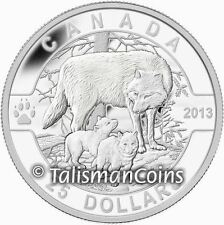 Canada 2013 Oh! Canada #6 Mother Wolf & Baby Cubs $25 1 Oz Pure Silver Proof