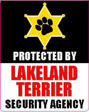 Protected By Lakeland Terrier Security Agency Sticker