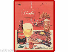 1946 Schaefer Beer Refrigerator / Tool Box Magnet Man Cave NEW!