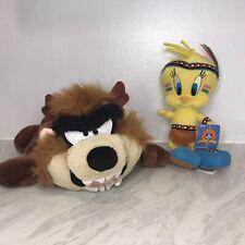 Rare 1997 Taz Looney Tunes Hand Puppet And Tweety Bird Indian Costume