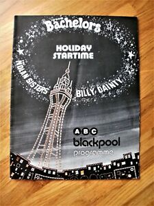 THE BACHELORS HOLIDAY STARTIME THEATRE PROGRAMME ABC THEATRE BLACKPOOL 1978