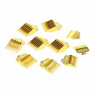 new Premium metal clip guard Guides Combs Guards Pack of 10 psc -gold