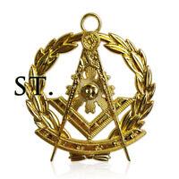 Freemasonry Officers Collar Jewel Masonic Past Master Gold Compass Pendant