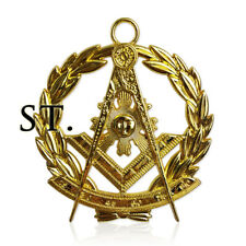 Freemasonry Officers Collar Jewel Masonic Past Master Gold Compass Pendant