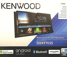 "Kenwood DDX9703S CarPlay Android Stereo 2DIN In-Dash DVD CD AMFM 6.95"" Touch NEW"