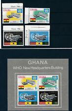 Ghana, WHW-Amtssitz Satz und Block, postfrisch-mint  (M9)