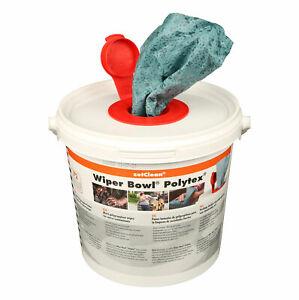 ZVG Wiper Bowl Reinigungstücher im Spendereimer Polytex, 72 Tücher 25x25cm 50130