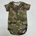 NEW 3-6 mo Georgia Bulldogs Creeper Romper Infant Baby Toddler Camo Realtree