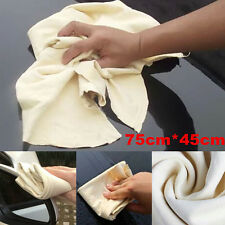 Natural Chamois Leather Absorbent Towel Glass Door Car Cleaning Wash Suede Cloth