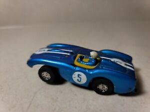 Vintage Tyco 1964 S Ferrari Testarossa blue slot car