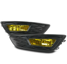 2015-2017 FORD FOCUS YELLOW FRONT BUMPER DRIVING FOG LIGHT LAMP w/HARNESS+SWITCH