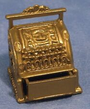 1/12TH SCALE DOLLS HOUSE OLD STYLE BRASS CASH REGISTER