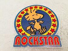 ROCKSTAR Red Blue Yellow Woodstock Peanuts Snoopy Car Skateboard Sticker Decal