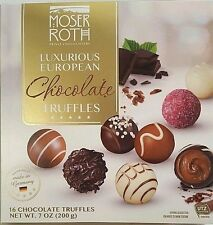 Moser Roth Luxurious European Chocolate Truffles 16 Piece Sealed Gift Box