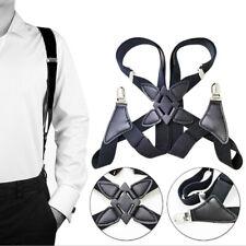 Suspenders Men Wide Adjustable Four Clip-on X- Back Elastic Braces Suspen BCDE