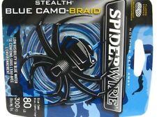 Spiderwire Camo Blue Stealth Braid Superline 80 Lb 300 Yds Braided Fishing Line