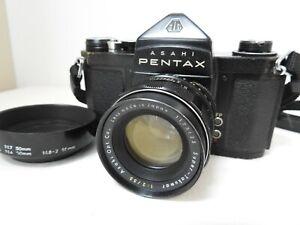 【Exc+3 AS-IS】 Pentax S2 Black Film Camera w/ Super Takumar 55mm f/2 from JAPAN