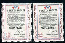 N° 1408 - 1 exemplaire bleu clair + 1 normal , neufs ** - ref VJ49