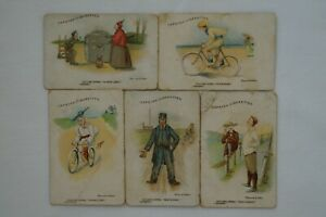 Cycling Terms Scarce 1905 Vintage Antiquarian Wills Capstan Cards x 5 E.G Fuller