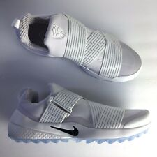 Nike Air Zoom Gimme Spikeless Golf Shoe White Black Ice Blue Size 9 849955-100