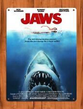 "Tin Sign ""Jaws� Poster Movie Shark Ocean Wall Decor"