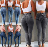New women High Waist jeans Skinny Jeans Stretch Pant Denim Trousers Pencil Pants