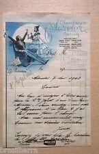 LETTRE SUR UNE FACTURE DU CHAMPAGNE Mercier en 1942 à Epernay