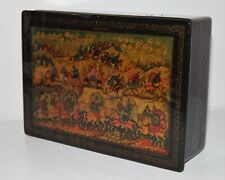 ANTIQUE RUSSIAN LACQUER PAPIER MACHE BOX