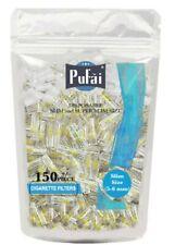 Pufai Slim Cigarette Filters Reusable Tar Block Compatible 5mm 6mm 150 Per Pack