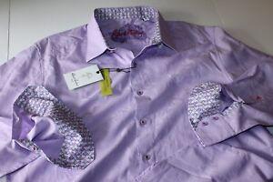 Robert Graham Shirt Starting Over Magenta RSS17004 Classic Fit LS Extra Large XL