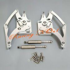 Billet Aluminum For Ford Mustang Falcon Compet Fairlane Hood Hinge Adjustable