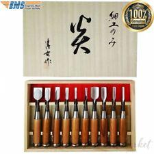 "Japanese Chisel Nomi Carpentry Tool SET of 10 Blade Japan ""Honou"" EMS"