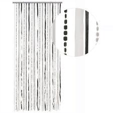 HAB & GUT Türvorhang STOFF / PAILLETTEN, SCHWARZ/WEISS, Kunststoff, 90 x 180 cm