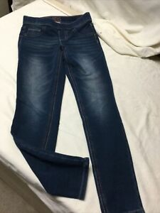 Justice Girls Pull On Jean Denim Soft Leggings In Medium Dark Wash Size 10