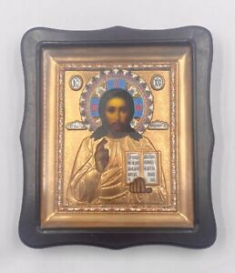 New Icon Jesus Christ Pantocrator Lithography 26x30cm