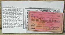 1902 JOHNSON AT. ARIZONA (GHOST TOWN) RARE R9 FIEGE CO 1 MEAT MKT HISPANIC SCRIP