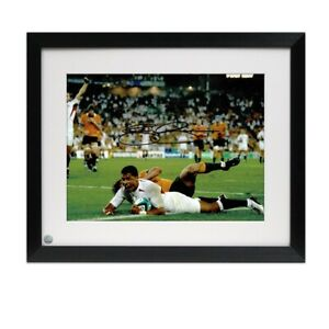 Jason Robinson Signed England Photo: 2003 Rugby World Cup Winner. Framed