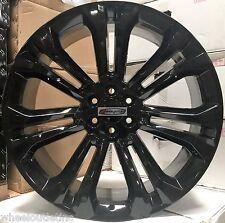 24 GMC OE Replica Wheels Black Rims Fits Sierra Yukon Denali Chevy Silverado LTZ