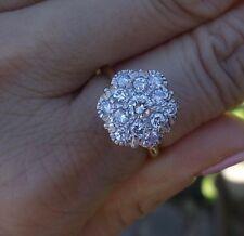 .92ct Diamond cluster engagement promise ring 14k White Gold