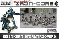 Wargames Atlantic Eisenkern Stormtroopers 20 Hard Plastic 28mm Figures