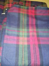 "2 PR Plaid Curtains Home Expressions JC Penny  Lined w/Tab Top 48"" X 80"" MINT"