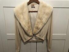 Crema Rubio Cardigan Vintage Cashmere wih rubia estola de visón