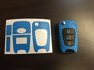 Carbon Himmel Blau Folie Schlüssel Hyundai z.B.: i10 i20 i30 ix35 ix20 Elantra