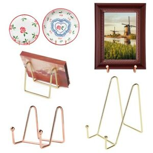 Iron Art Display Stand Dish Rack Plate Bowl Picture Frame Photo Book Pedestal UK