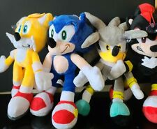 """Set of 4 Sonic the Hedgehog Plush Toy Knuckles Shadow Tails 12"""" Inch Usa Stock"""