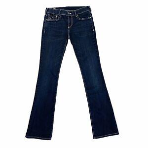 True Religion Becca Jeans Women's Size 26 Mid Rise Bootcut Dark Wash Denim Pants