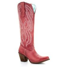 Corral Ladies Red Embroidered Tall Boots E1318
