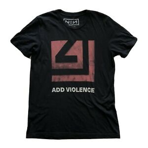 Mens Official Nine Inch Nails Add Violence Band T-Shirt Merch Medium M NIN Black