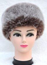 Beautiful Faux Fur Hat SNOW Flakes Stylish Brown Hat premium quality
