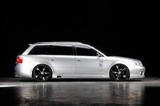 Satz Seitenschweller links & rechts für Audi A6 4B Carbon-Look NEU RIEGER-Tuning